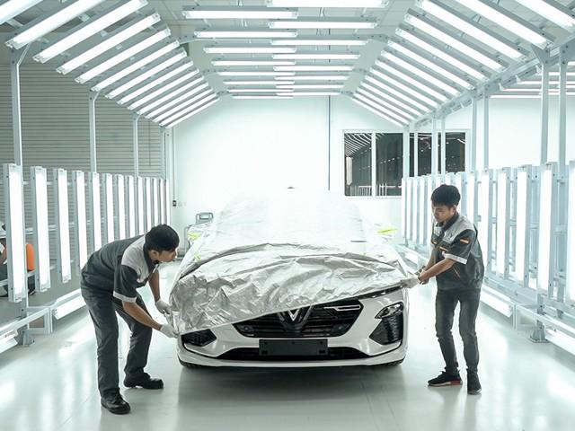 Hé lộ hình ảnh bên trong nhà máy sản xuất ô tô sắp khánh thành của VinFast - Ảnh 14.