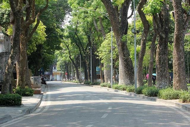 Hà Nội gần 60 độ nóng như đổ lửa, phố đi bộ vắng hơn ngày Tết - Ảnh 6.