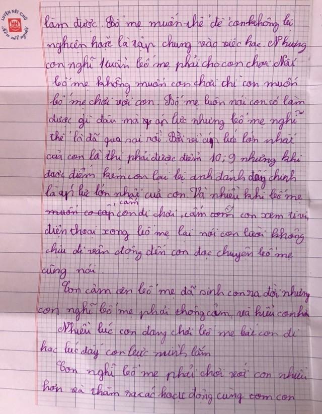 Cậu bé lớp 4 viết thư phản đối áp lực điểm 10 khiến cha mẹ lặng người - Ảnh 2.