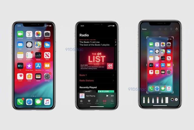 Lộ ảnh mới nhất về iOS 13: iPhone sẽ có giao diện tối Dark Mode, đổi mới thiết kế nhiều ứng dụng - Ảnh 1.