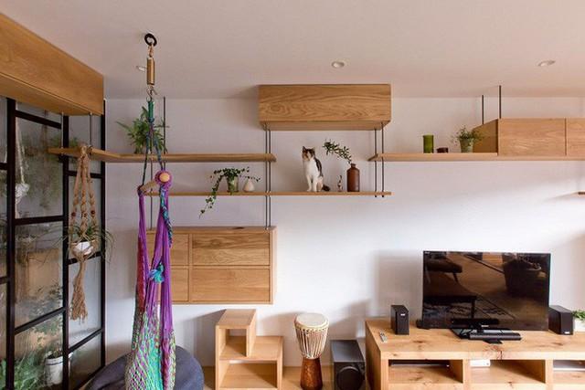 Căn hộ 85m² đẹp dịu dàng và ấm áp với màu gỗ của gia đình trẻ ở Nhật Bản - Ảnh 6.