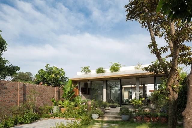 Thiết kế đơn giản nhưng ngôi nhà 1 tầng ở Hà Nội vẫn đẹp như biệt thự nghỉ dưỡng - Ảnh 1.