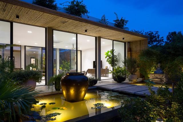 Thiết kế đơn giản nhưng ngôi nhà 1 tầng ở Hà Nội vẫn đẹp như biệt thự nghỉ dưỡng - Ảnh 12.