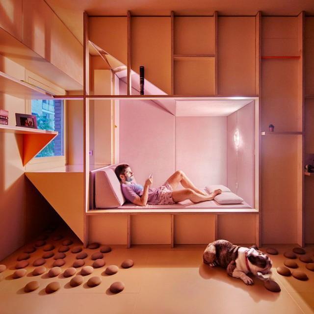 Căn hộ nhỏ dành cho những người bận rộn thường xuyên phải làm ca đêm ra đời với nhiều tiện ích bất ngờ - Ảnh 5.