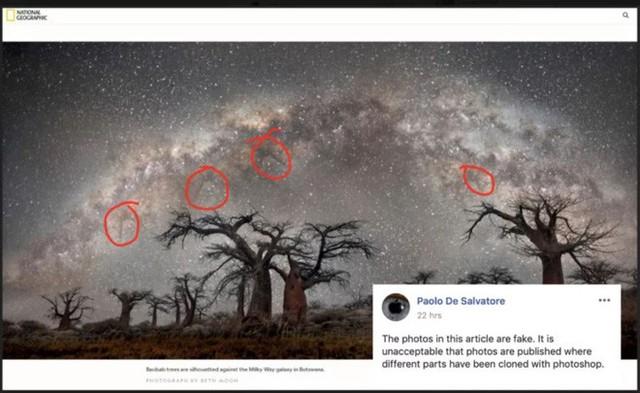 Bức ảnh Dải ngân hà được đăng bởi trang báo nổi tiếng National Geographic bị dân mạng tố là ảnh fake - Ảnh 2.