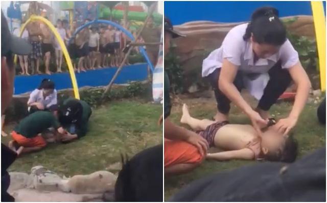Công viên nước Thanh Hà vừa bị đình chỉ hoạt động vài tiếng thì xảy ra sự cố bé trai đuối nước - Ảnh 1.