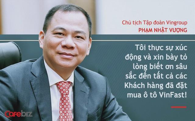 Chủ tịch Phạm Nhật Vượng: Tôi thực sự xúc động và biết ơn sâu sắc đến tất cả các Khách hàng đã đặt mua ô tô VinFast! - Ảnh 1.