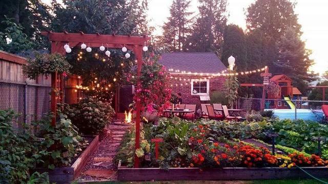 Khu vườn quá đỗi thơ mộng với hoa và rau quả của người mẹ đơn thân cùng cô con gái nhỏ xinh đẹp - Ảnh 3.