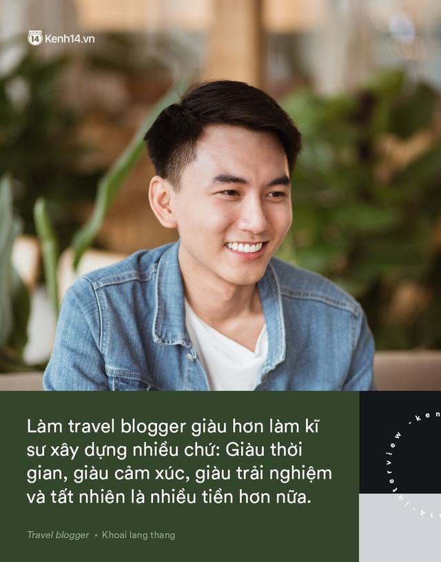 Blogger điển trai Khoai Lang Thang tiết lộ từng bị lừa tiền năm 18 tuổi, giàu hơn rất nhiều khi bỏ nghề kỹ sư để làm du lịch - Ảnh 8.