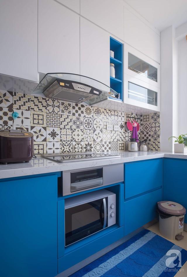Căn hộ 66m² trên tầng cao với thiết kế đơn giản ở quận Thanh Xuân của gia chủ yêu màu xanh biển - Ảnh 11.