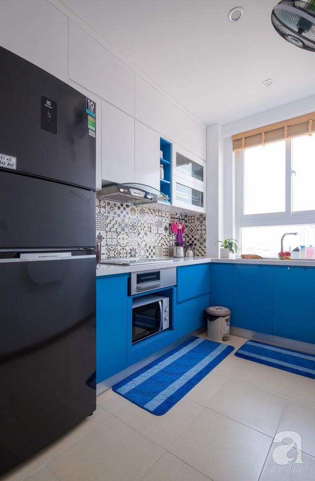 Căn hộ 66m² trên tầng cao với thiết kế đơn giản ở quận Thanh Xuân của gia chủ yêu màu xanh biển - Ảnh 12.