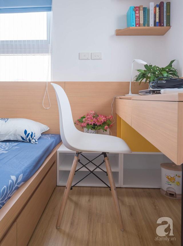 Căn hộ 66m² trên tầng cao với thiết kế đơn giản ở quận Thanh Xuân của gia chủ yêu màu xanh biển - Ảnh 13.