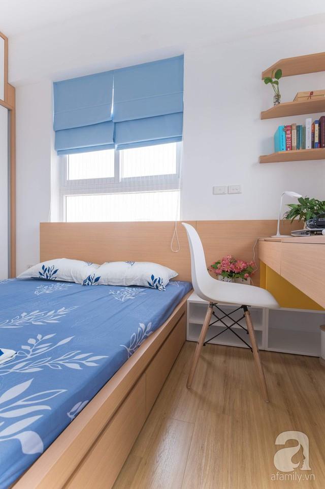 Căn hộ 66m² trên tầng cao với thiết kế đơn giản ở quận Thanh Xuân của gia chủ yêu màu xanh biển - Ảnh 14.