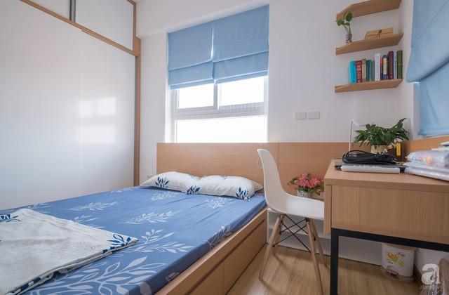 Căn hộ 66m² trên tầng cao với thiết kế đơn giản ở quận Thanh Xuân của gia chủ yêu màu xanh biển - Ảnh 16.