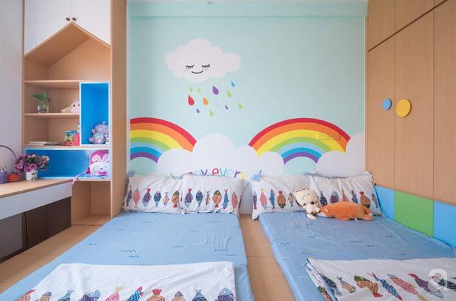Căn hộ 66m² trên tầng cao với thiết kế đơn giản ở quận Thanh Xuân của gia chủ yêu màu xanh biển - Ảnh 17.