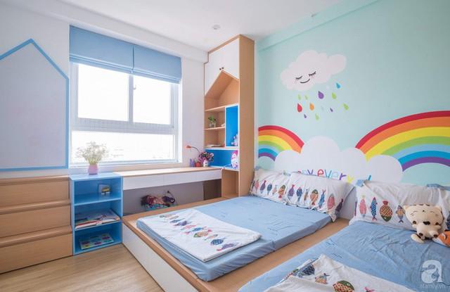 Căn hộ 66m² trên tầng cao với thiết kế đơn giản ở quận Thanh Xuân của gia chủ yêu màu xanh biển - Ảnh 18.