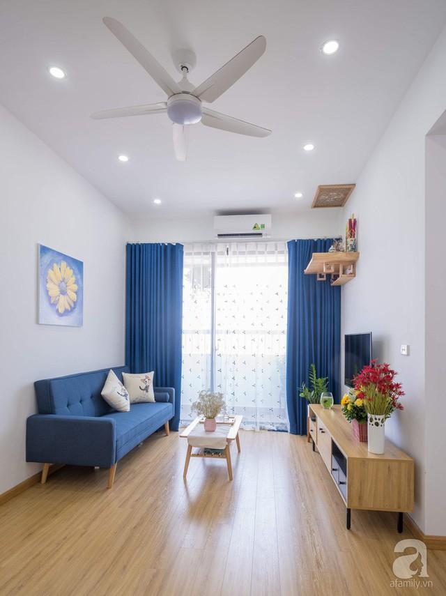 Căn hộ 66m² trên tầng cao với thiết kế đơn giản ở quận Thanh Xuân của gia chủ yêu màu xanh biển - Ảnh 3.