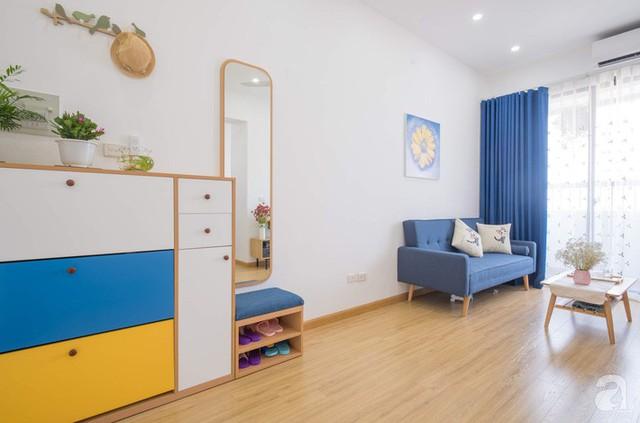 Căn hộ 66m² trên tầng cao với thiết kế đơn giản ở quận Thanh Xuân của gia chủ yêu màu xanh biển - Ảnh 7.