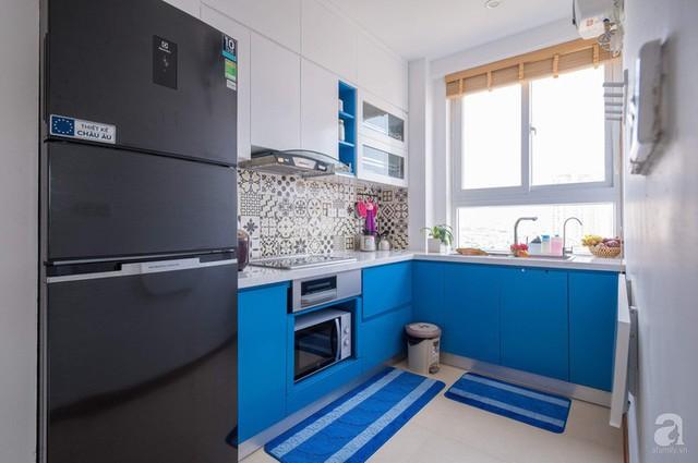 Căn hộ 66m² trên tầng cao với thiết kế đơn giản ở quận Thanh Xuân của gia chủ yêu màu xanh biển - Ảnh 8.