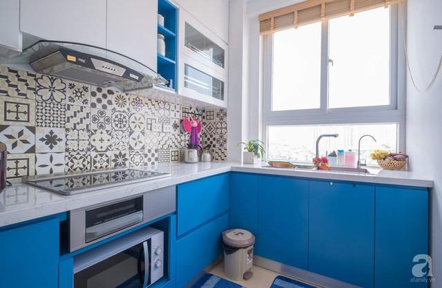 Căn hộ 66m² trên tầng cao với thiết kế đơn giản ở quận Thanh Xuân của gia chủ yêu màu xanh biển - Ảnh 9.