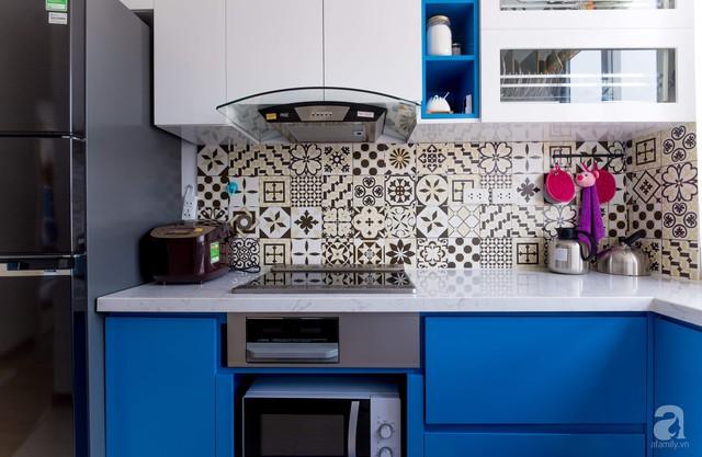 Căn hộ 66m² trên tầng cao với thiết kế đơn giản ở quận Thanh Xuân của gia chủ yêu màu xanh biển - Ảnh 10.