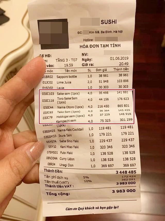 Ăn sushi nổi tiếng phố Kim Mã, team công sở giật mình thanh toán 12 triệu, riêng trà đá gần 1 triệu vì mắc bẫy nhà hàng - Ảnh 4.
