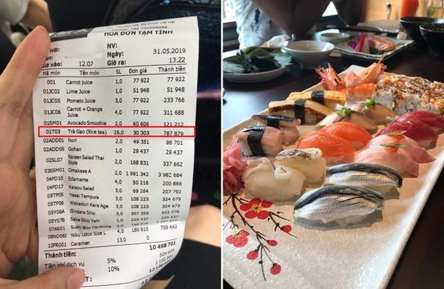 Khách tố đi ăn sushi 7 triệu, riêng tiền trà 1 triệu: Nhân Sushi Kim Mã phản ứng bất ngờ - Ảnh 1.