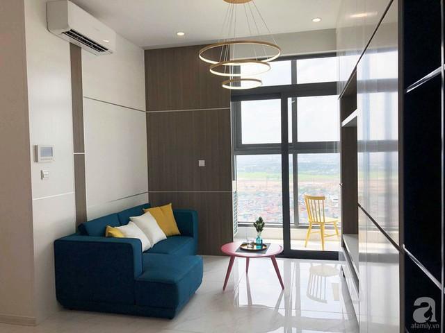 Căn hộ 96m² trên tầng 32 ở Hà Nội đơn giản nhưng vẫn hút ánh nhìn nhờ cách phối màu trẻ trung - Ảnh 2.