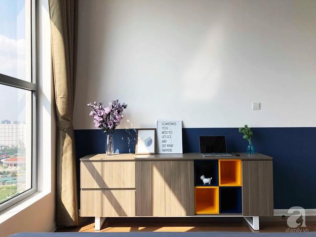 Căn hộ 96m² trên tầng 32 ở Hà Nội đơn giản nhưng vẫn hút ánh nhìn nhờ cách phối màu trẻ trung - Ảnh 13.