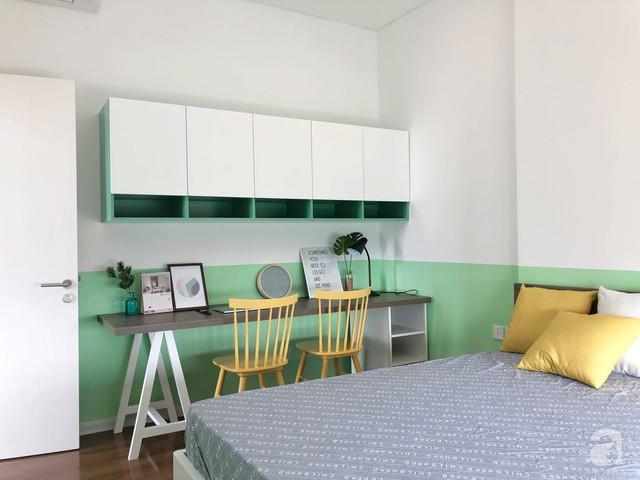 Căn hộ 96m² trên tầng 32 ở Hà Nội đơn giản nhưng vẫn hút ánh nhìn nhờ cách phối màu trẻ trung - Ảnh 18.
