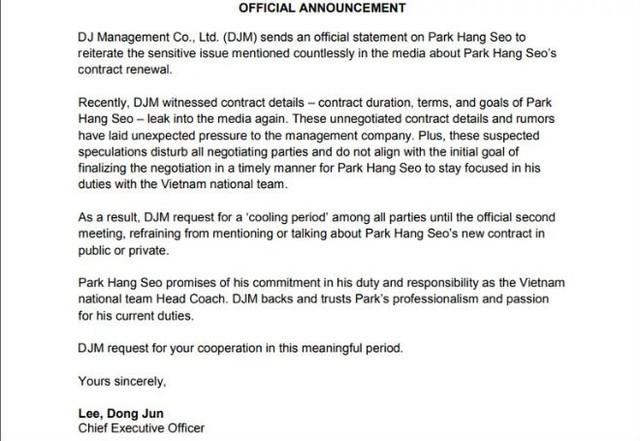HLV Park Hang Seo chốt ký hợp đồng trước SEA Games 30 - Ảnh 2.