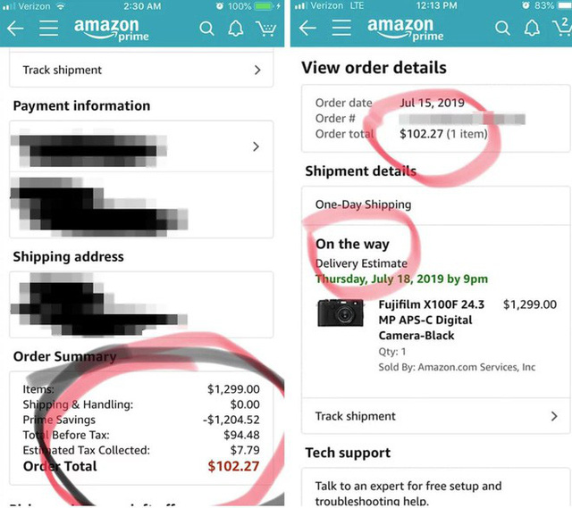 Amazon gặp lỗi, bán máy ảnh và ống kính trị giá hơn 13.000 USD ở mức 100 USD - Ảnh 1.