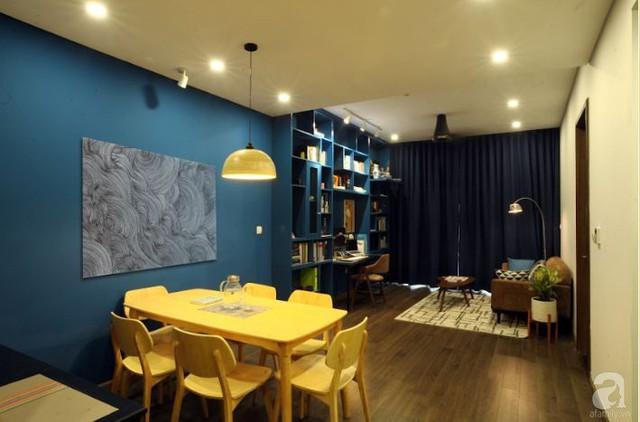Căn hộ 90m² đẹp hiện đại với điểm nhấn màu xanh rất nam tính, có chi phí thi công 280 triệu đồng ở Hà Nội - Ảnh 7.