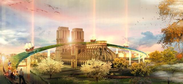 Đề xuất táo bạo của một công ty kiến trúc Việt trong việc khôi phục Nhà thờ Đức Bà - Ảnh 1.