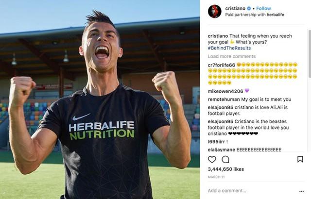 Ronaldo, ngôi sao vàng trong làng đại sứ: Sức mạnh từ mạng xã hội hơn 300 triệu người theo dõi, mỗi bài đăng thu về 750.000 USD, tạo ra 1,6 triệu USD giá trị cho nhà tài trợ - Ảnh 4.