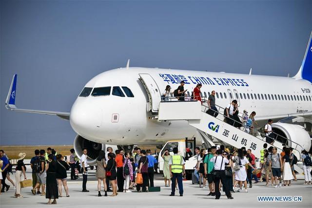 Bên trong sân bay nằm trên biển mây vừa mở cửa tại Trung Quốc - Ảnh 5.
