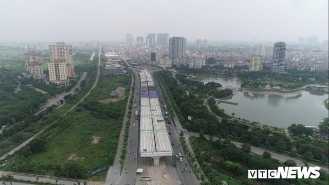 Ảnh: Hình hài con đường trên cao hơn 5.000 tỷ đồng ở Hà Nội - Ảnh 1.