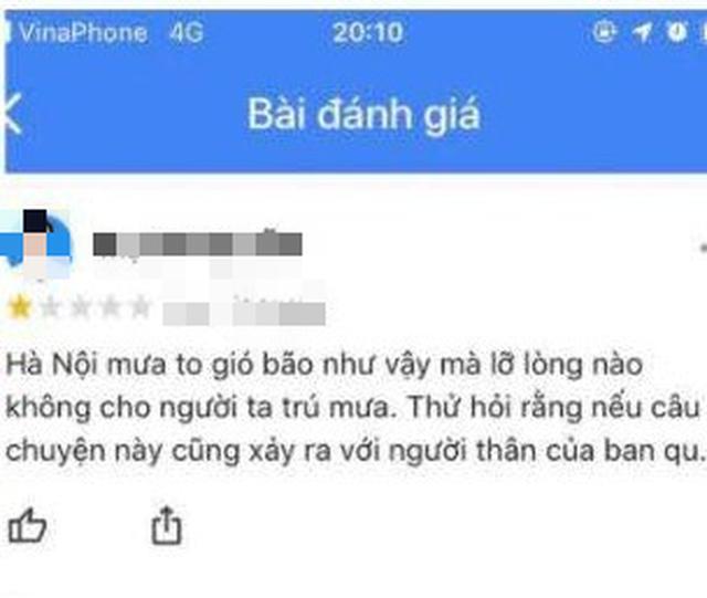 Khách sạn 5 sao nơi nam bảo vệ đuổi người trú mưa ở Hà Nội bị dân mạng đồng loạt rate 1 sao - Ảnh 6.