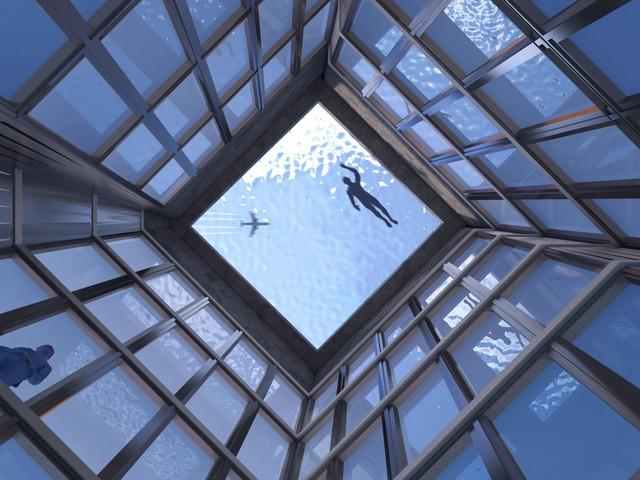 Bể bơi vô cực 360 độ trên nóc cao ốc tại London, làm sao để vào bơi? - Ảnh 1.