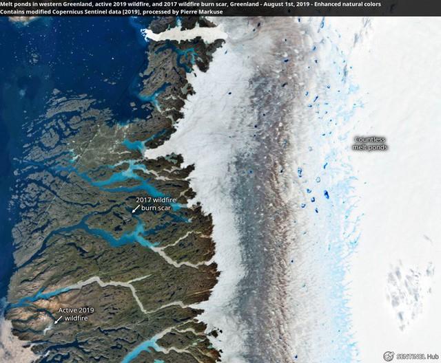 Bức ảnh vệ tinh cho thấy tình trạng đáng lo ngại về những gì đang xảy ra với một trong những nơi lưu trữ băng lớn nhất Trái Đất - Ảnh 1.