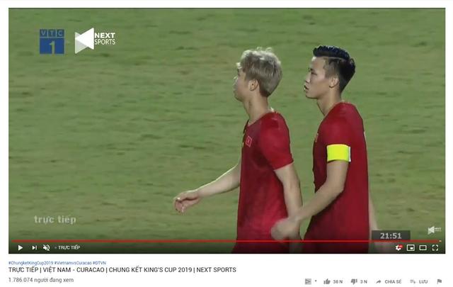 việt nam và curacao - photo 1 1565315405861300162363 - Trận đấu Việt Nam và Curacao phá kỷ lục YouTube tại Đông Nam Á, lọt Top 10 thế giới