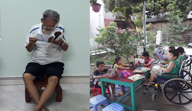 Ông chủ' 8 tuổi ngồi xe lăn sở hữu thư viện sách mini ở Hải Dương - Ảnh 2.