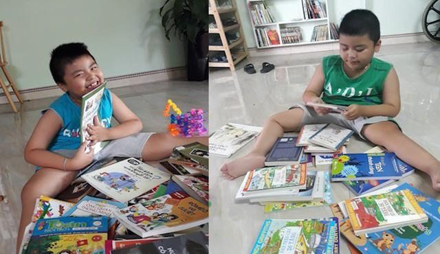 Ông chủ' 8 tuổi ngồi xe lăn sở hữu thư viện sách mini ở Hải Dương - Ảnh 4.