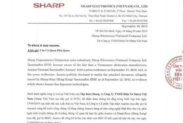 Tập đoàn Sharp Nhật Bản sẽ kiện Asanzo vì giả mạo bằng chứng - Ảnh 1.