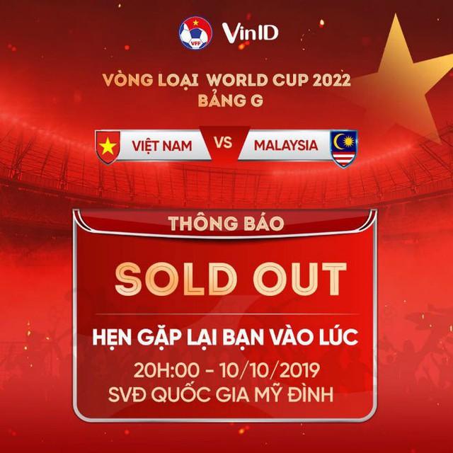 VFF đã bán hết vé xem trận Việt Nam vs Malaysia - Ảnh 2.