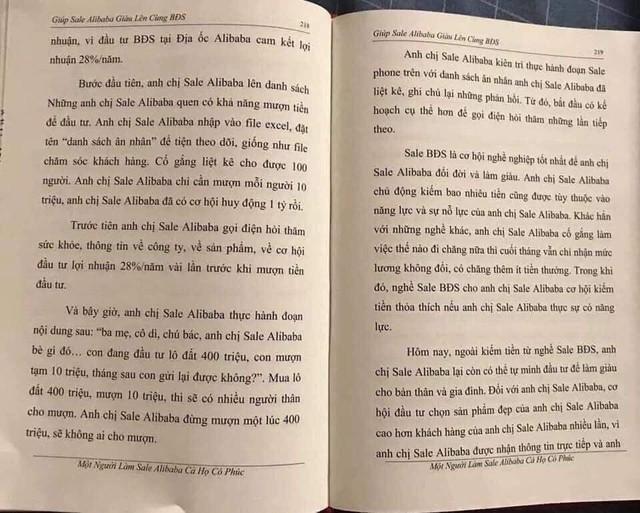 Lan truyền cuốn sách Nguyễn Thái Luyện dạy nhân viên Alibaba bí kíp lừa đảo - Ảnh 2.