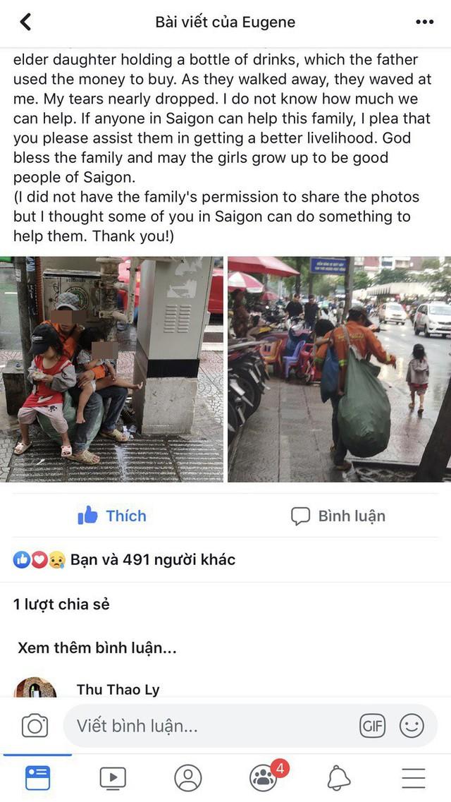 Hành động của 3 bố con lượm ve chai giữa phố Sài Gòn khiến 1 người Malaysia xúc động và ấn tượng - Ảnh 1.