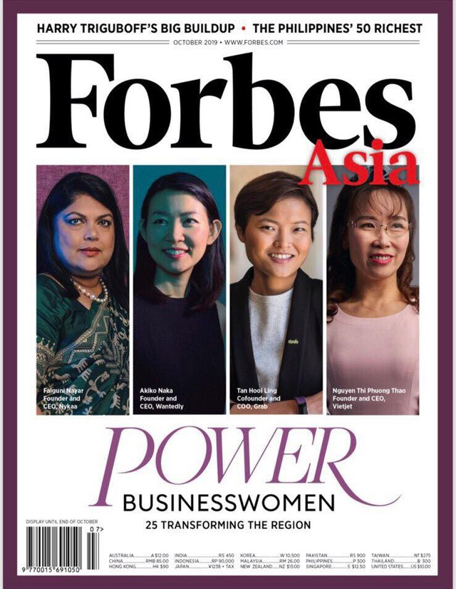Danh sách Nữ doanh nhân quyền lực nhất châu Á 2019 của Forbes: CEO Vietjet Nguyễn Thị Phương Thảo đã làm nên lịch sử trong ngành hàng không - Ảnh 1.