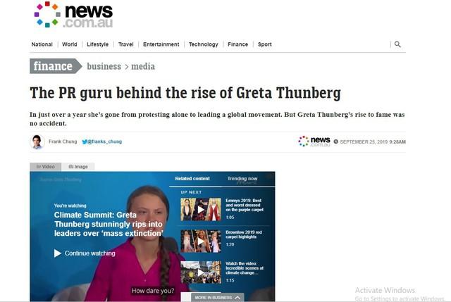 Sau báo Mỹ, đến lượt báo Úc nghi ngờ Greta Thunberg có đội ngũ PR chuyên nghiệp phía sau giúp tạo dựng tên tuổi và kiếm tiền trục lợi - Ảnh 5.