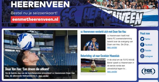 Sau màn ra mắt, Heerenveen dành vinh dự lớn cho Đoàn Văn Hậu - Ảnh 6.